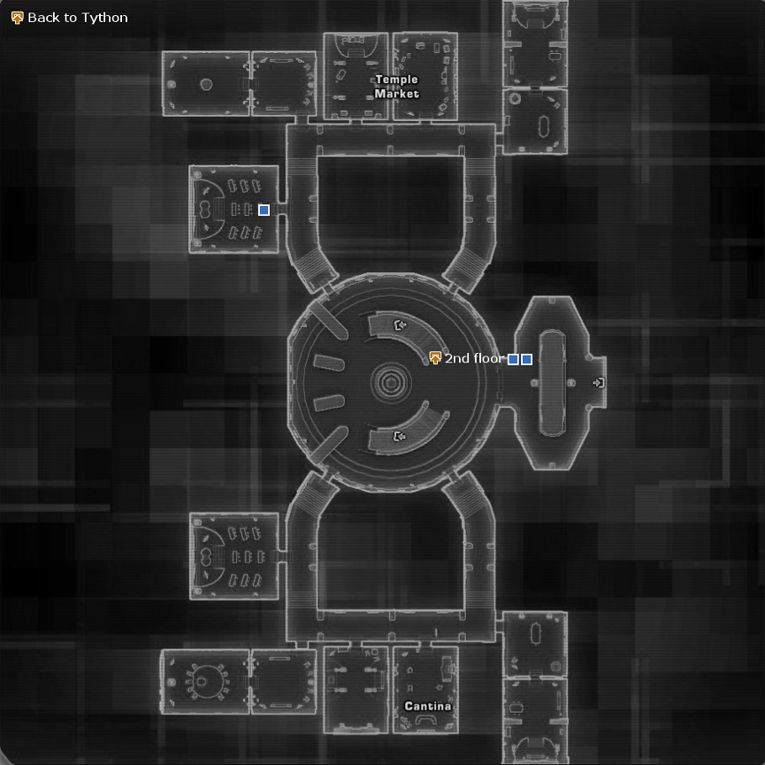 Map of Jedi Temple, 1st Floor